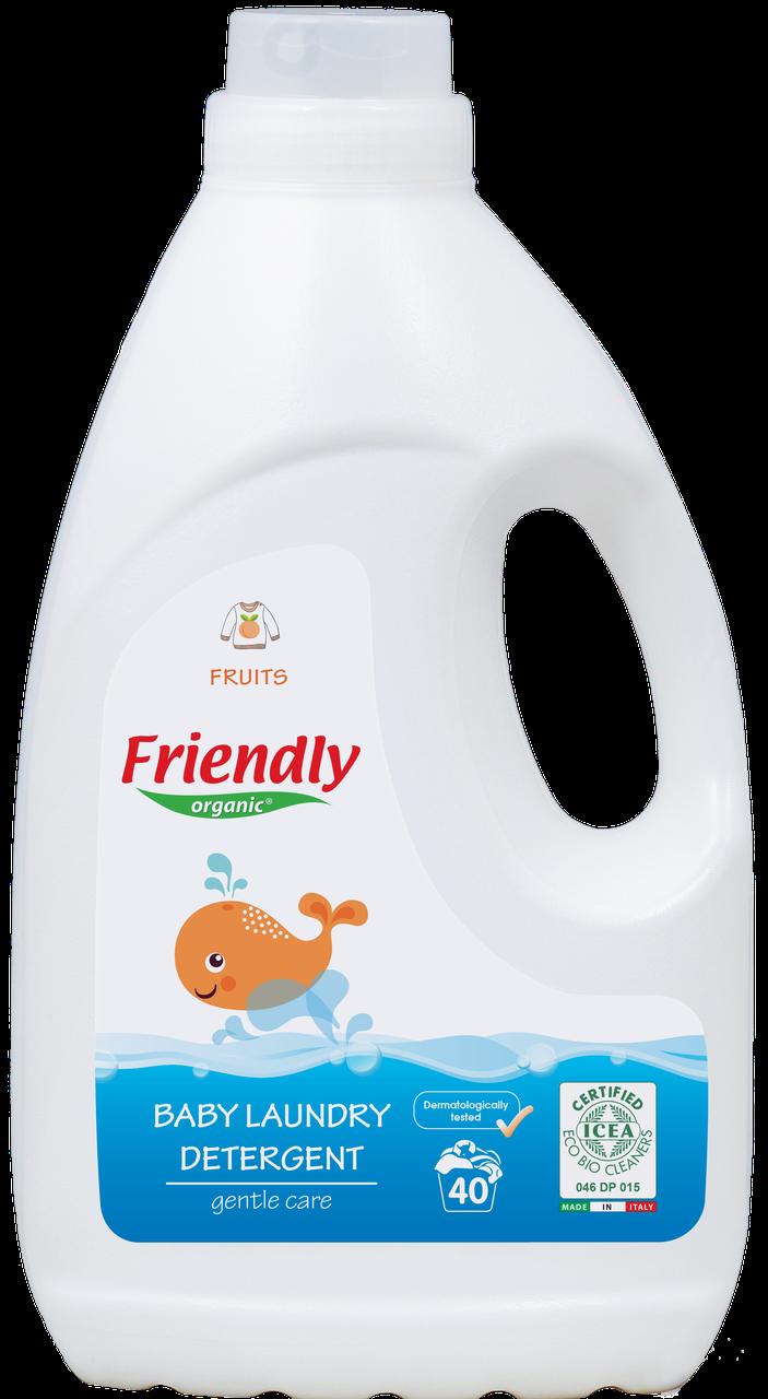 Органический жидкий стиральный порошок Friendly organic фрукты 2000 мл (40 стирок)