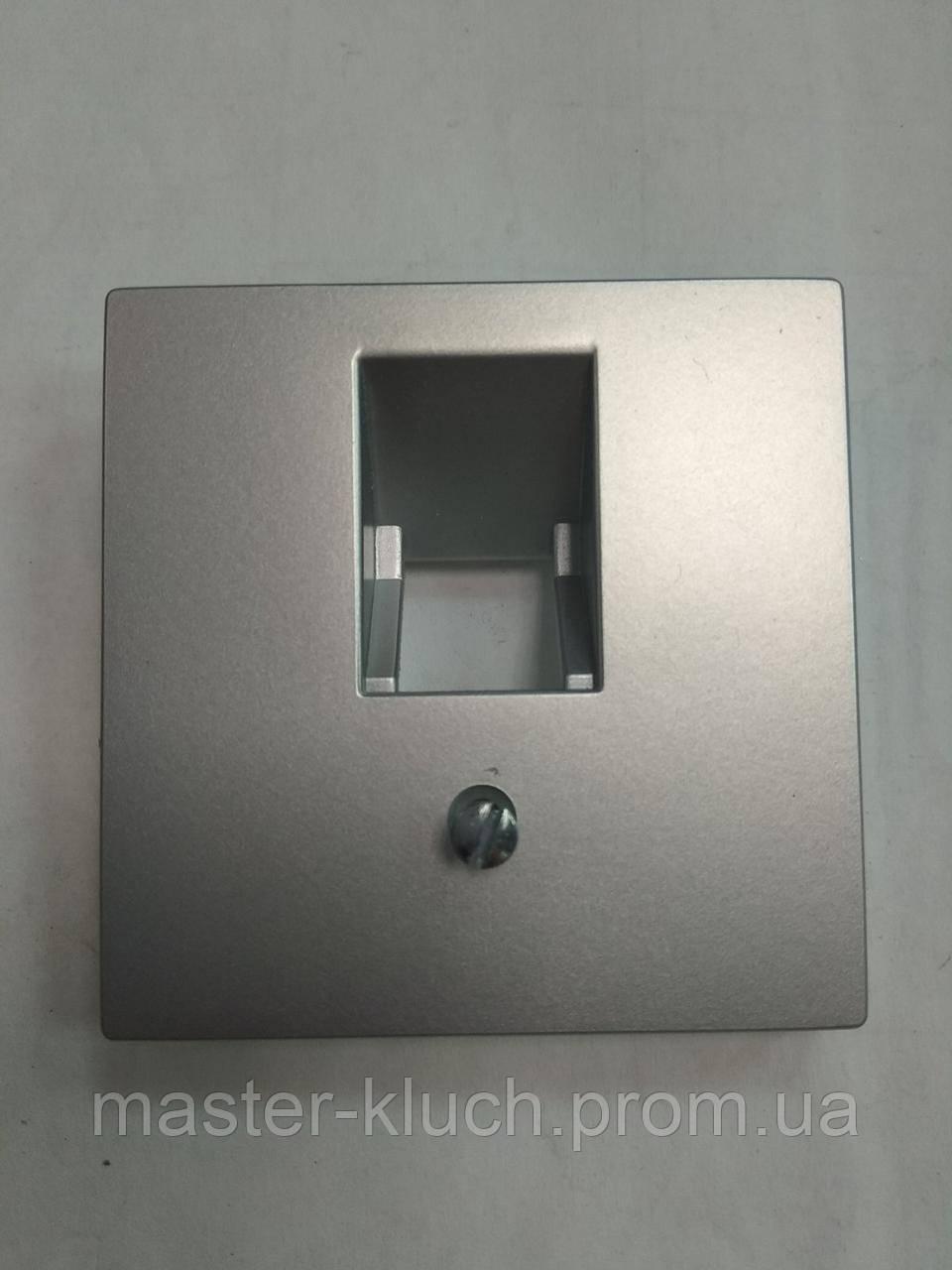Розетка компьютерная, телефонная одинарная Jung A 500 накладка