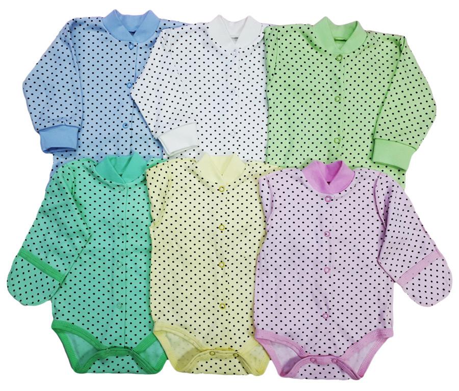 Боди-кофта, для новорожденных (интерлок)