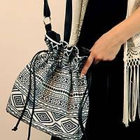 Женская сумка мешок Torba (TOR_ORN051_BL)