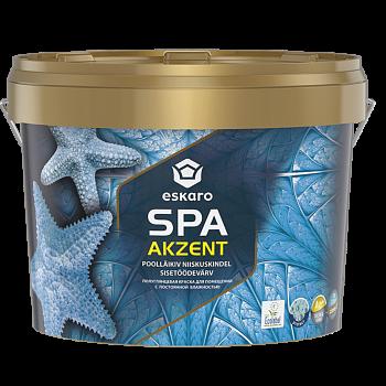 Влагостойкая краска антибактериальная моющаяся ESKARO Akzent SPA, 2,7л
