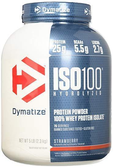 Dymatize Nutrition  ISO 100 - 2,3 кг - клубника, фото 1