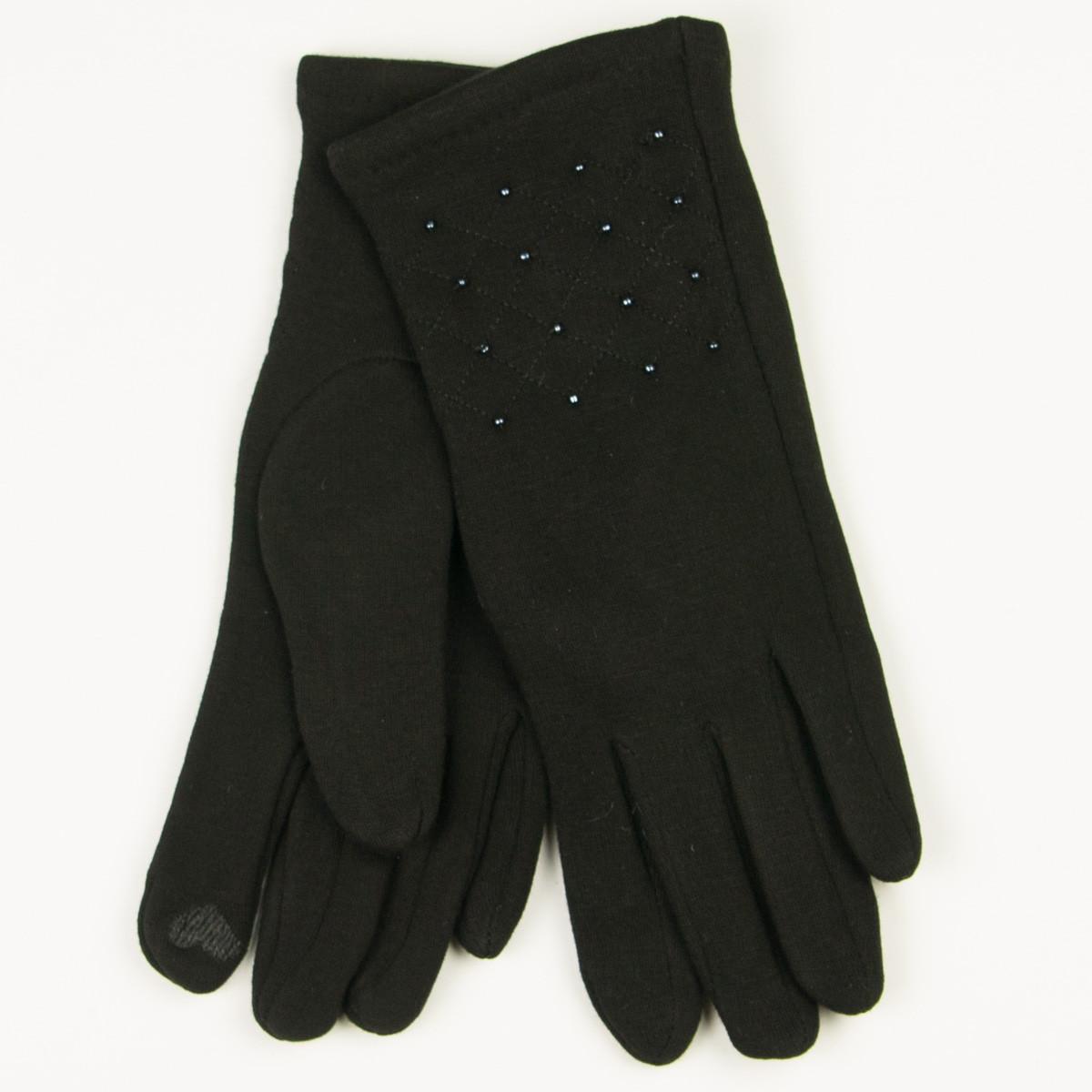 Трикотажные  женские перчатки зимние (арт. 19-1-39/4) S(6.5)