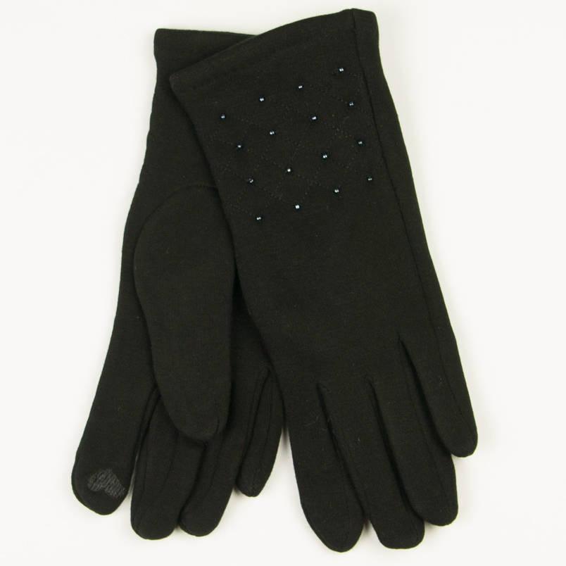 Трикотажные  женские перчатки зимние (арт. 19-1-39/4) S(6.5), фото 2