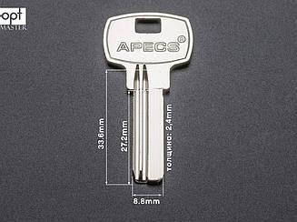 APECS  — AP1B короткий английская надпись, заготовка ключей