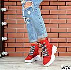 Женские зимние красные ботинки, из натуральной замши 3639 40 ПОСЛЕДНИЕ РАЗМЕРЫ, фото 3