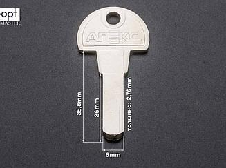 APECS  3.0мм — язык большой (латунь) заготовки ключей