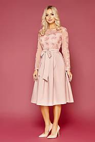 Красивое нежное платье пудрового оттенка  Размеры S M L