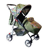 Прогулочная коляска-книжка Trans Baby Baby Car Baby оливка+абстракция