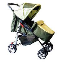 Прогулочная коляска-книжка Trans Baby Baby Car Baby оливка+салат