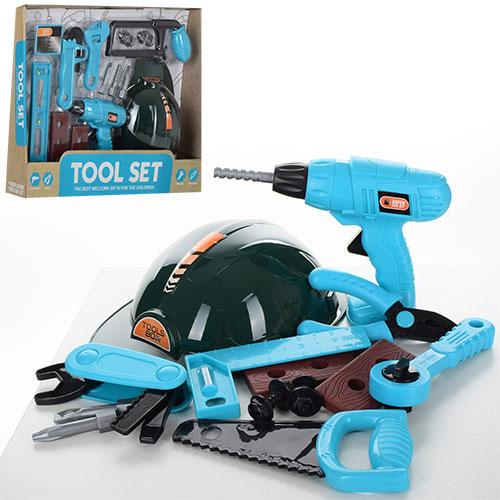 Дитячий набір інструментів 6608-09-1 з дрилем і каскою