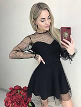 Платье женское полупрозрачное с длинными рукавами /черное, 42-46, ft-461/, фото 3
