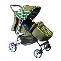 Прогулочная коляска-книжка Trans Baby Baby Car Baby оливка+паски