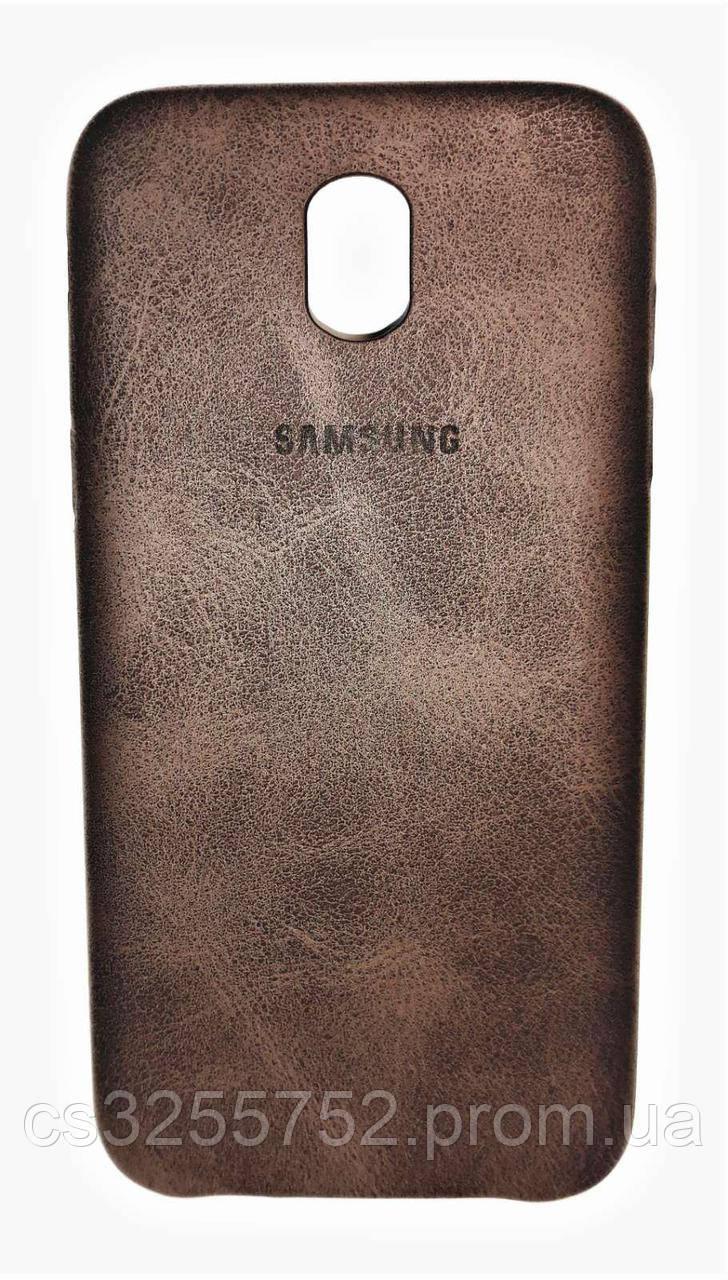 Накладка Baseus под кожу для Samsung J530 Коричневый