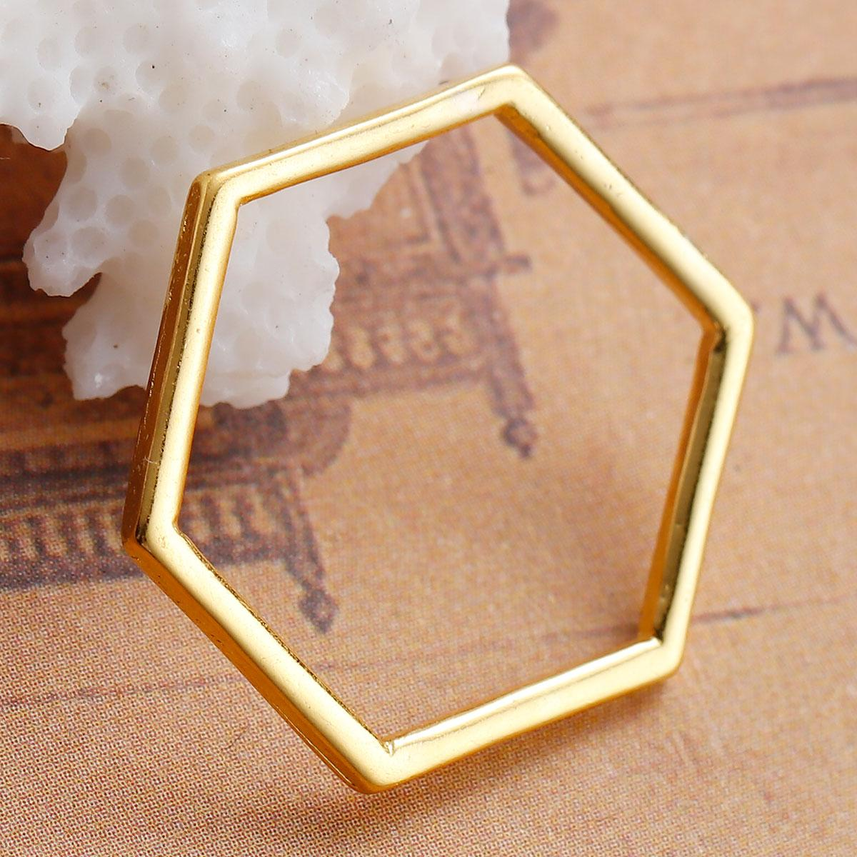 """Конектор """" Соти """", Цинковий сплав, Колір: Золото, 22 мм x 20 мм"""