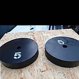 Блины металлические для штанги 25мм D, фото 3
