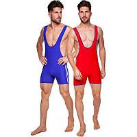 Трико для борьбы и тяжелой атлетики двухстороннее мужское (красный/синий, р-р M-XL-46-52)