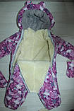 Комбінезон-трансформер дитячий зимовий зі знімною овчиною кольори в асортименті, фото 5