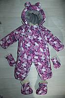 Комбинезон трансформер детский зимний со съемной овчиной цвета в ассортименте, фото 1