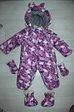 Комбінезон-трансформер дитячий зимовий зі знімною овчиною кольори в асортименті, фото 6
