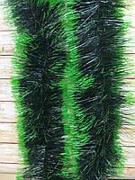 Топ! 10 см диаметр Рождественский дождик-мишура Хвоя с салатовыми кончиками, Длина 3 метра