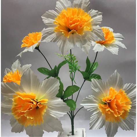 Искусственные цветы. Искусственный букет Нарцисс., фото 2