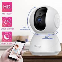 Sdeter ip камера беспроводная WiFi с ночным режимом поворотная