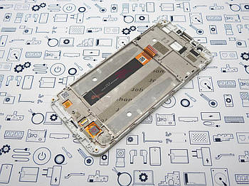 Б.У. Дисплей Meizu M8c модуль в рамке белый Оригинал