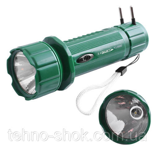 Фонарь светодиодный аккумуляторный Luxury 9980, 1LED (Yajia)