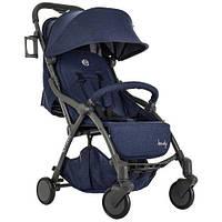 Візок дитячий ME 1034L HANDY Denim прогулянковий, книжка, колеса 4 шт., чохол, льон, синій.