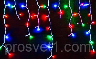 Гірлянда 120 LED 3м «Бахрома» з білим дротом (мультиколор)