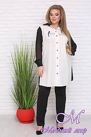 Стильная женская рубашка большого размера (р. 42-90) арт. Волна
