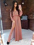Длинное платье из люрекса с верхом на запах и поясом 6603397Q, фото 3