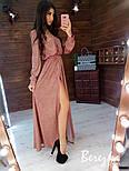 Длинное платье из люрекса с верхом на запах и поясом 6603397Q, фото 5