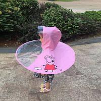 Яркий детский дождевик, зонтик (желтая утка и свинка Пеппа)