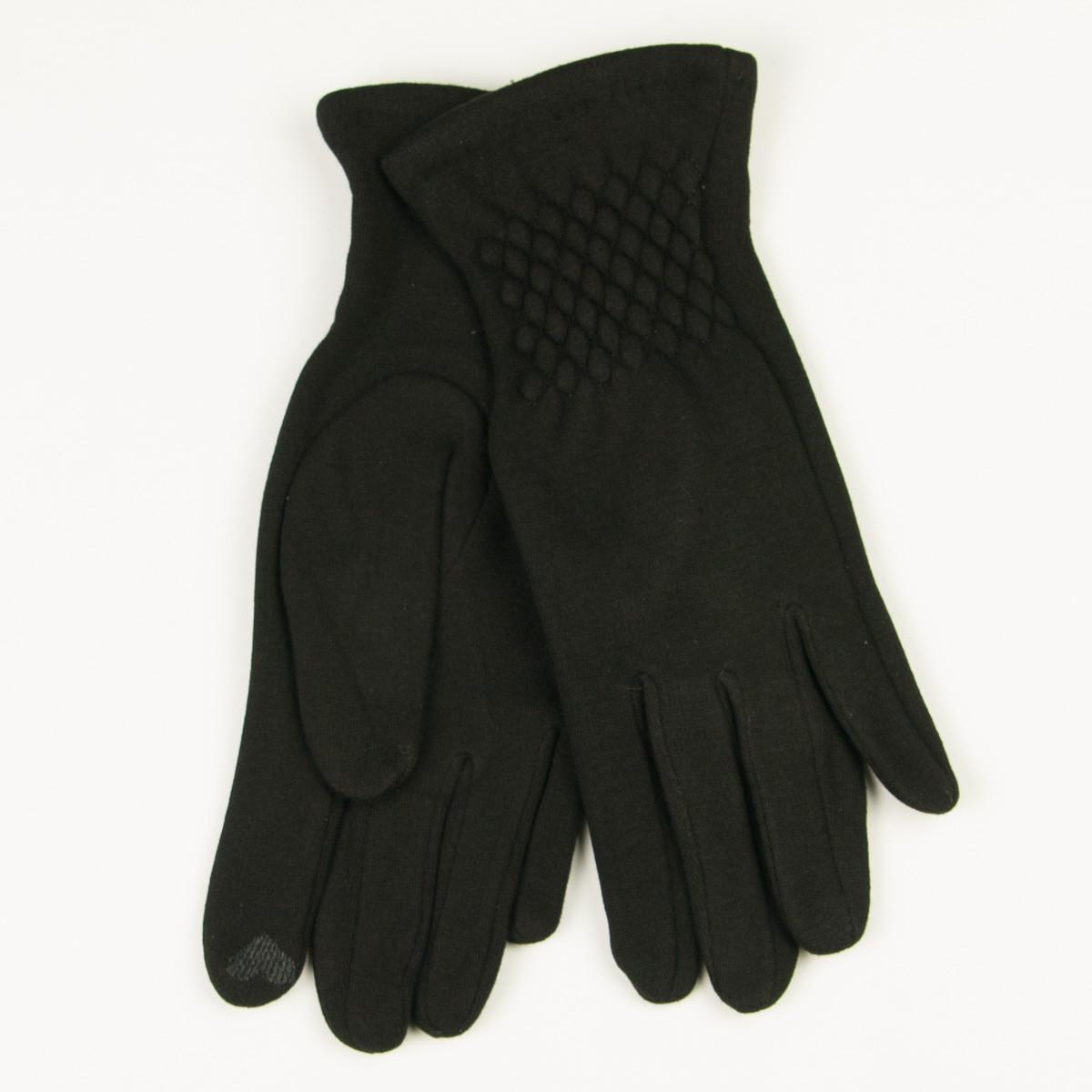 Трикотажные  женские перчатки зимние   № 19-1-39V1/5