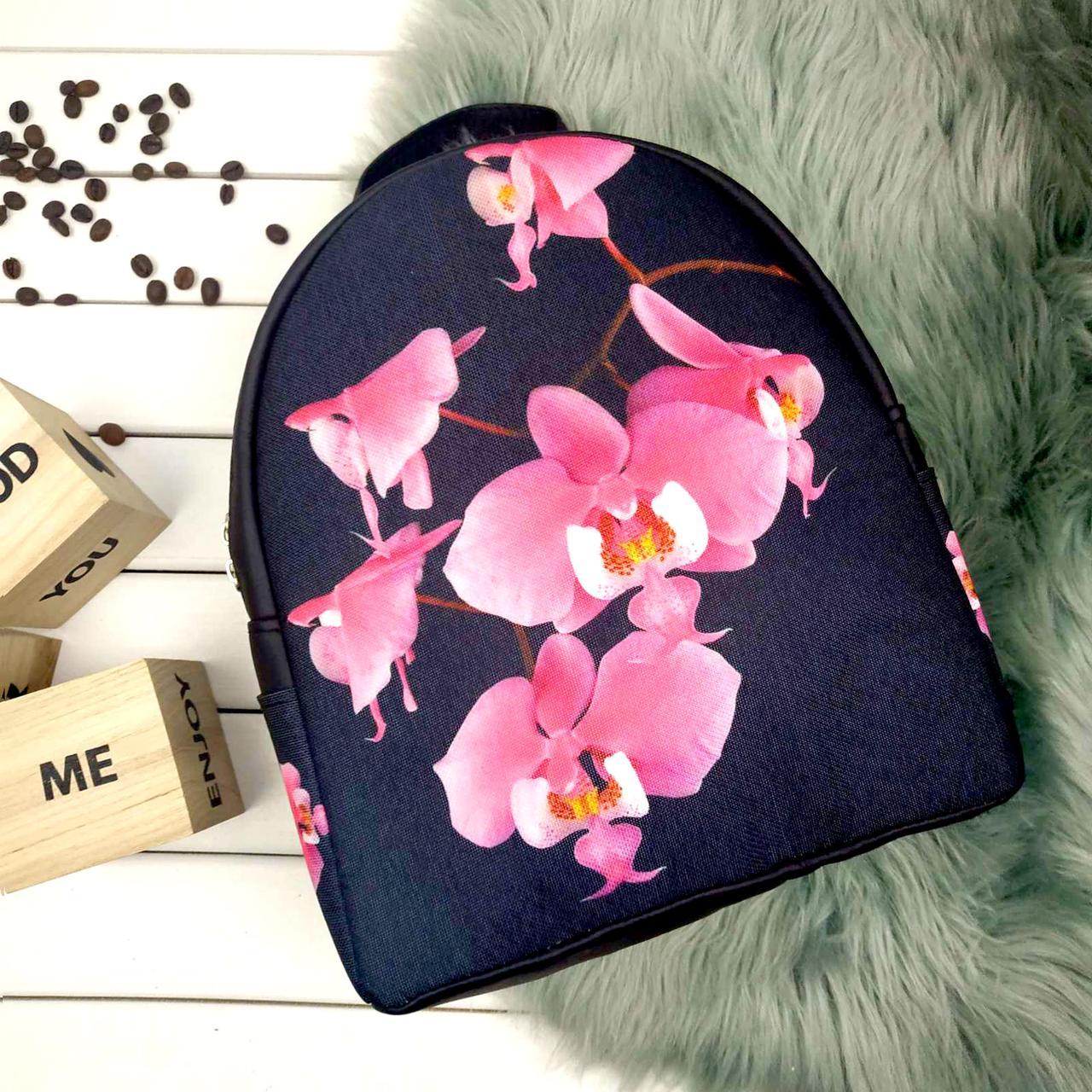 Городской рюкзак с принтом Розовая орхидея