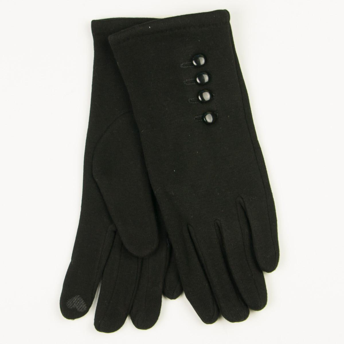 Трикотажные  женские перчатки зимние (арт. 19-1-39V1/6)  S(6.5)