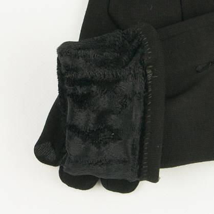 Трикотажные  женские перчатки зимние (арт. 19-1-39V1/6)  S(6.5), фото 3