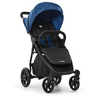 Візок дитячий ME 1032L ESCAPE Denim Black прогулянковий, книжка, колеса 4шт., чохол, льон, бірюзовий