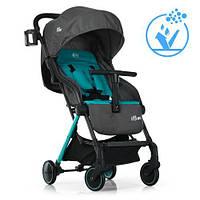 Візок дитячий ME 1036 MIMI Lagoon прогулянковий, книжка, колеса 4 шт., чохол, сіро-блакитний.