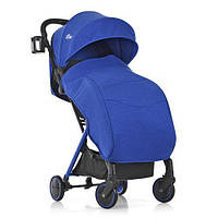 Візок дитячий ME 1036L MIMI Indigo прогулянковий, книжка, колеса 4 шт., чохол, синій.