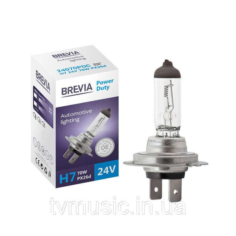 Автолампа BREVIA Power Duty H7 24V 70W 4200K
