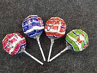 Новогодний чупс Chups 50г с игрушкой-сюрпризом и конфетами для девочки/мальчика, 4 шт.