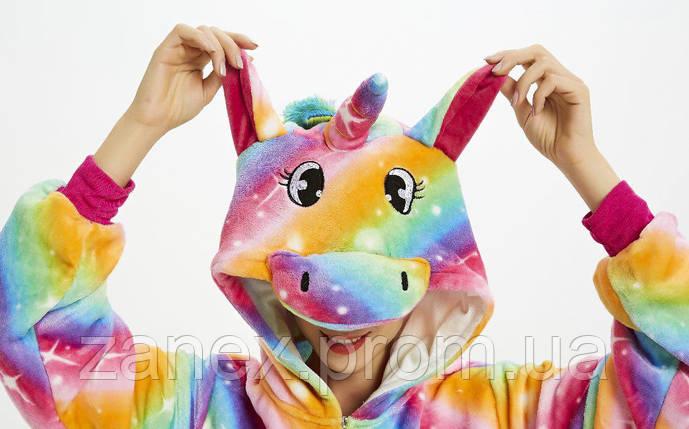 Пижама Кигуруми Красочный Единорог взрослая, фото 2