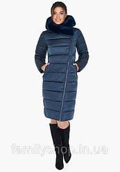 Зимний женский пуховик с натуральным мехом