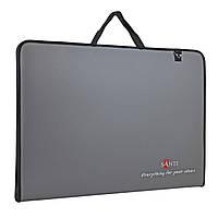 Папка-портфель для эскизов А2 SANTI Prestige, 450*39*715мм, серая