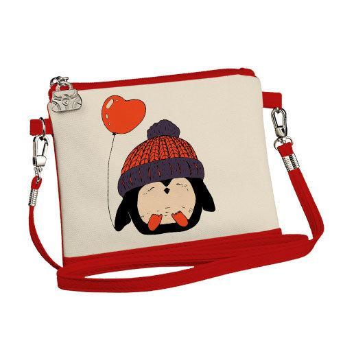 Сумка для девочки Little fairy Пингвин в шапке с шариком (SF_17NG031_KR)