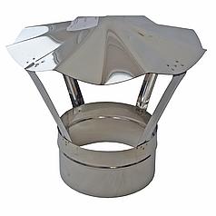 Грибок для дымохода 100 мм из нержавеющей стали «Версия Люкс»