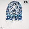Женский павлопосадский палантин Цветы, фото 2